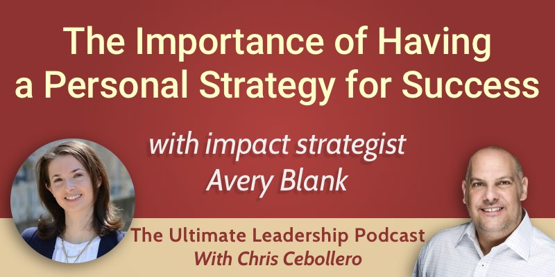 the importance of having a personal strategy for success the