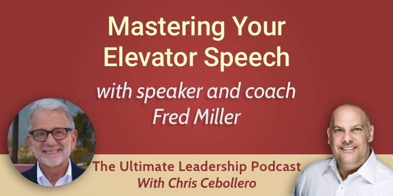 Mastering Your Elevator Speech